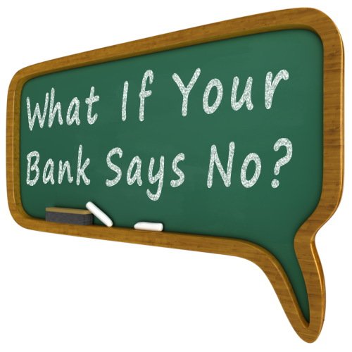 banks saying no
